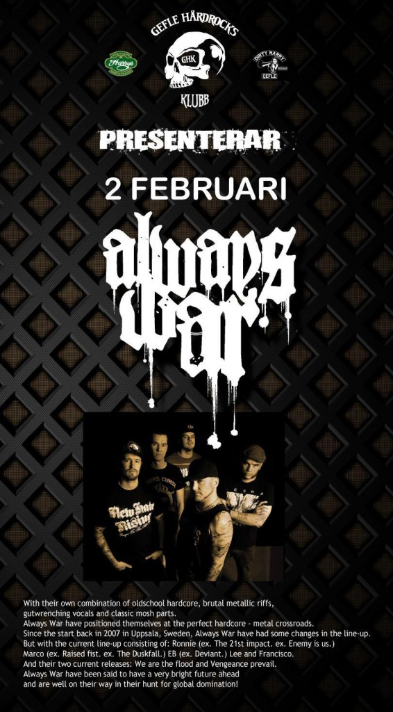 FLYER-ALWAYS WAR