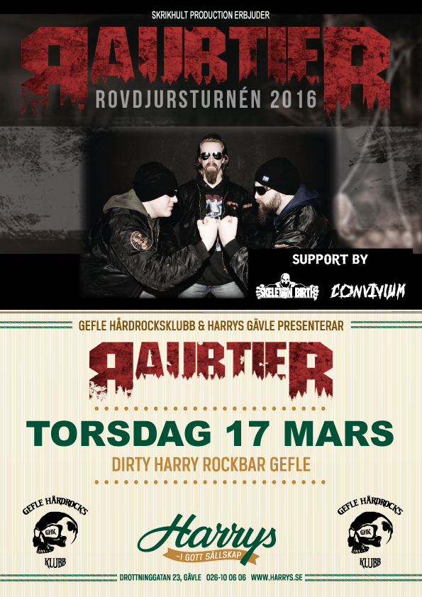 Flyer Raubtier med support 17 mars