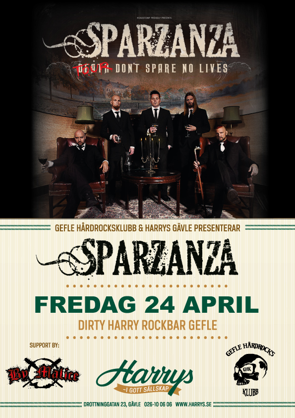Flyer Sparzana + support By Malice 24 april