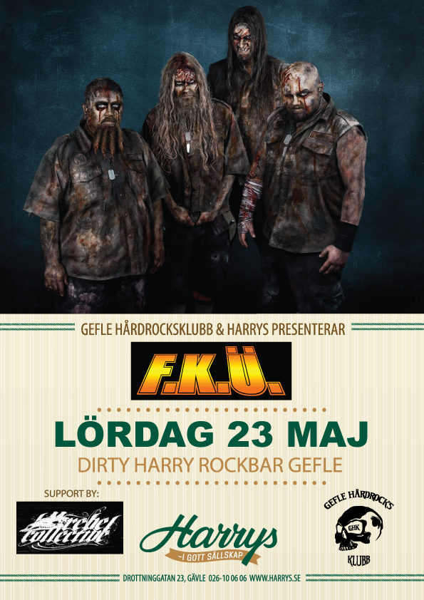 Flyer FKÜ med support Rebel Collective 23 maj