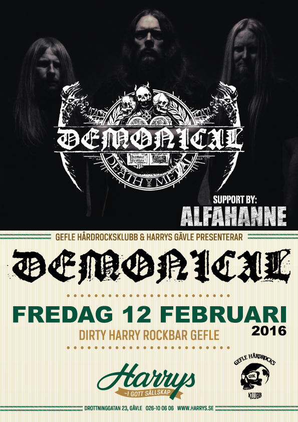 Demonical + support Alfahanne 12 feb
