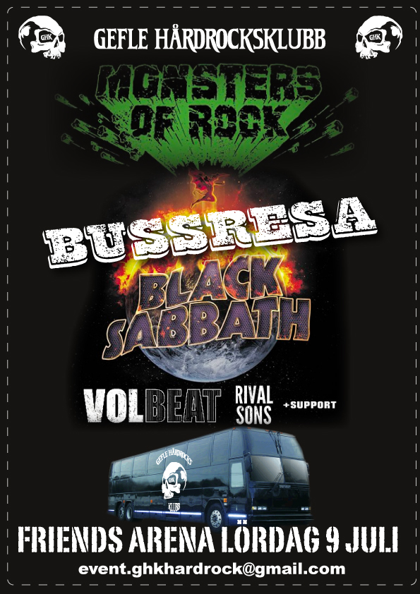 Flyer Bussresa Black Sabbath