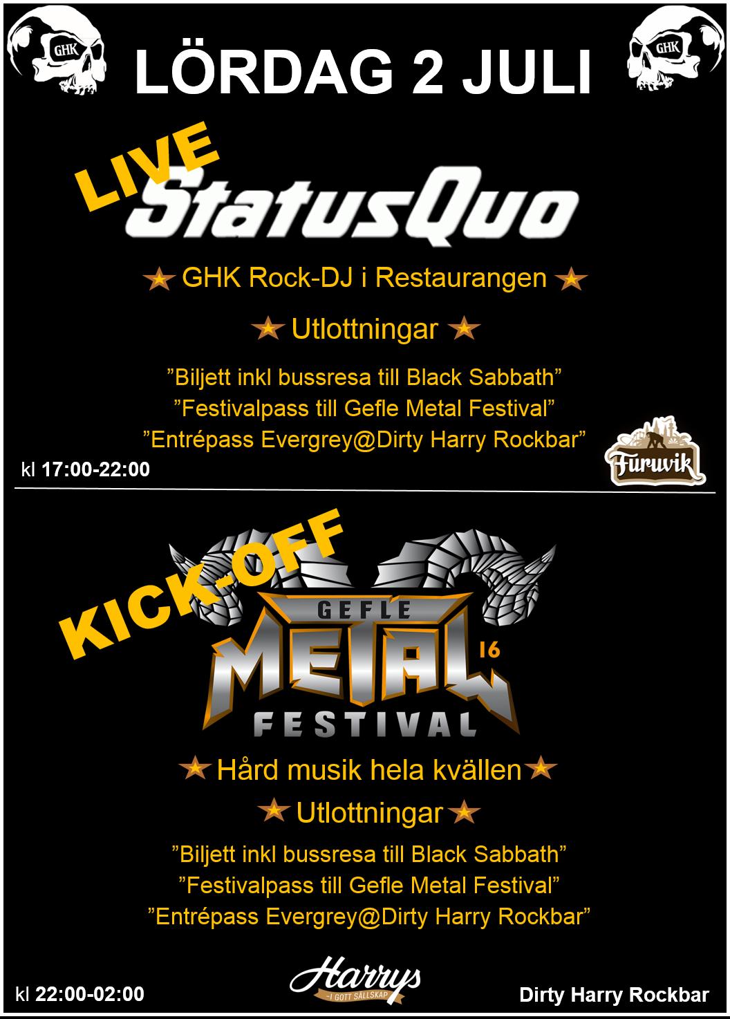 Affisch Status Q & KickOff GMF