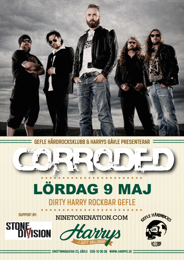 Flyer Corroded + support Stone Division 9 maj