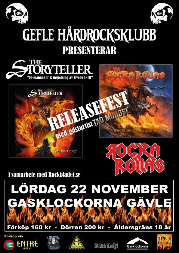 Flyer Releasefest 22 nov Gasklockorna